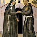 Icône de Saint François et de Sainte Claire