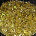 Curry de poulet aux courgettes