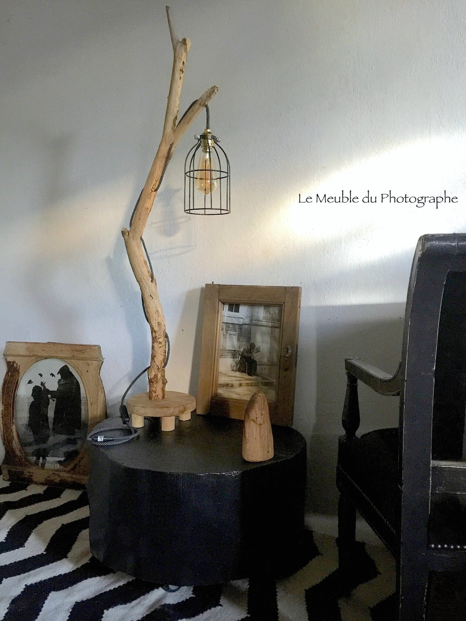 Lampe Bois Flotte Et Table Rondin Photo De 2 Atelier Boutique En