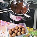 Cuisine: petites bouchées aux amandes