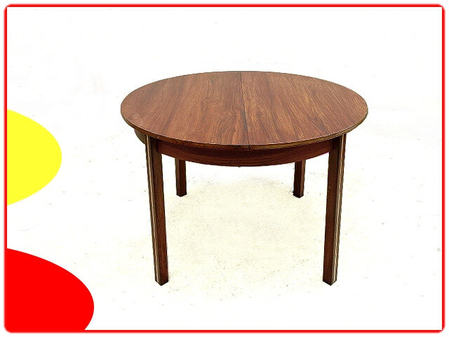 Table vintage scandinave 1970 palissandre