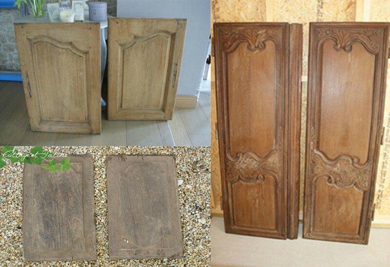 Exemples stock portes à revisiter Cottage et Patine