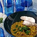 Curry de maïs & lentilles corail au lait d'avoine