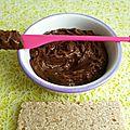 Tartinade allégée chocolat praliné à 75 kcal (diététique, hypocalorique, hyperprotéinée, sans beurre ni sucre, riche en fibres)