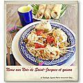 Nems aux noix de saint-jacques et son quinoa gourmand…