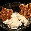 Glace pain d'épices sans sorbetière