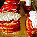 Choux fraise et fleur d'oranger