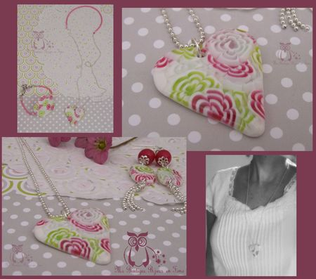 Sautoir coeur fraisi