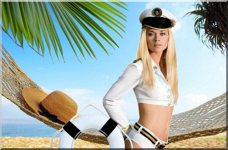 femme marin et bouée