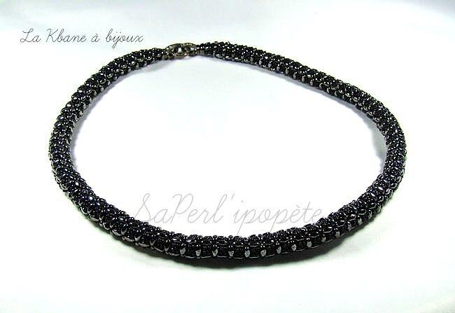 lisa collier noir hématite2