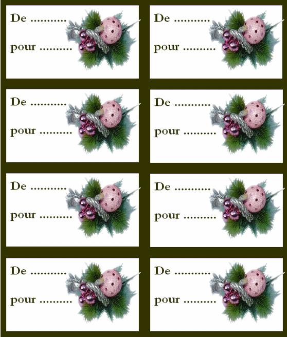 Etiquettes à imprimer pour cadeaux création minouchapassion