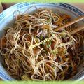 Chou pointu au wok