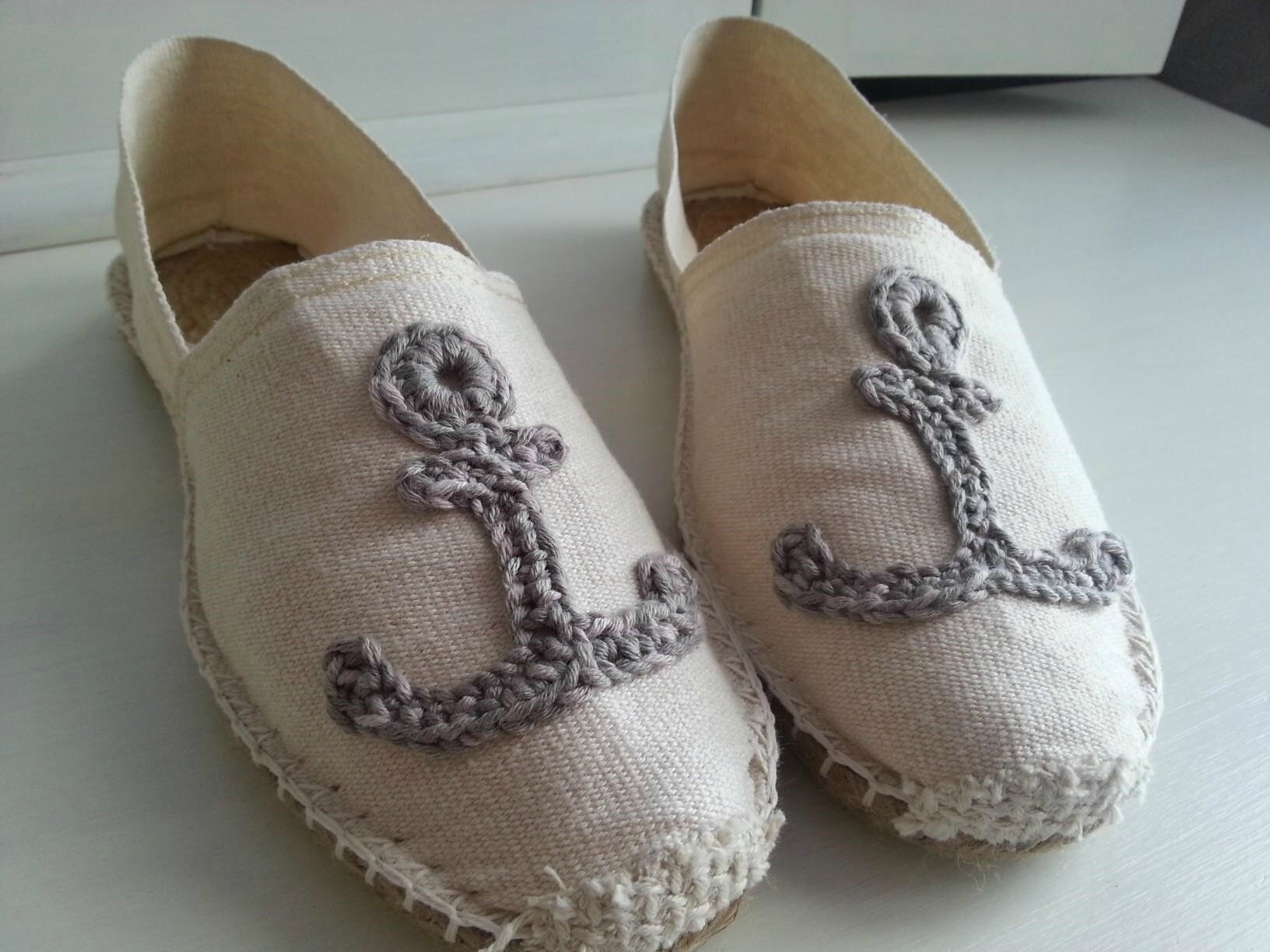 Espadrille ancre