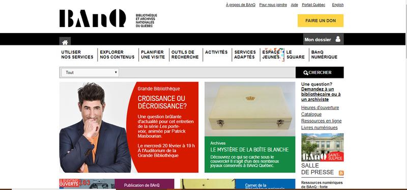 Hausse significative des visites sur le site Bibliothèque et Archives nationales du Québec