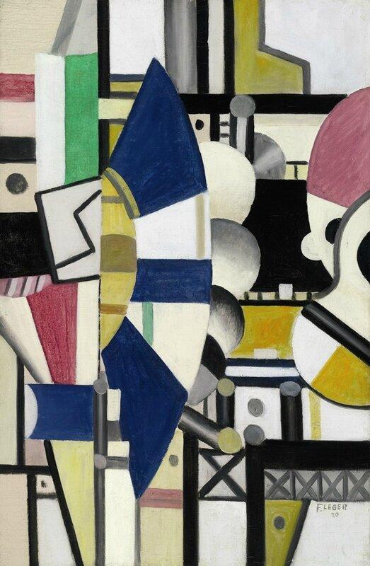 Fernand Léger, La Roue Bleue, état définitif, 1920
