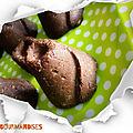 Volcan cru chocolat / noix de coco vegan ( 155 cal/ pièce)