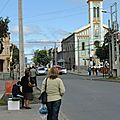 Punta Arenas Personnes attendant le colectivo