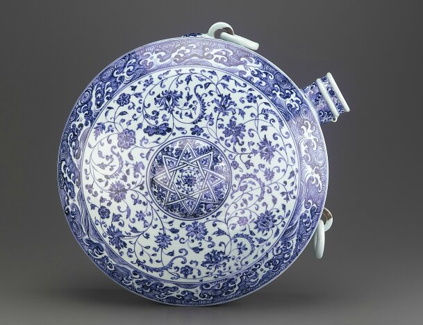 Blue-and-White Canteen, early 15th century, Ming dynasty (1368 – 1644)