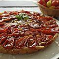 Tarte tatin tomate cerise caramel balsamique et anchois