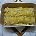Lasagnes aux poireaux façon ravioles