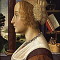 Profile portrait of a young woman, 1490