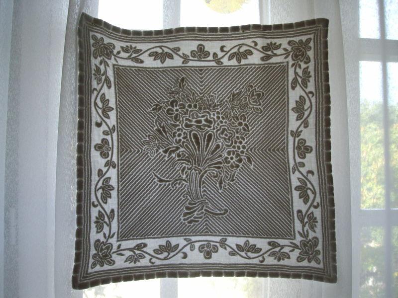 boutis bouquet drapé (transparence 1)