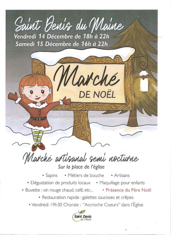 MARCHE DE NOEL ST DENIS DU MAINE DEC 2018
