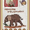Échange ATC timbrée Automne (Chez Sandrine) (Mémoire d'éléphant) Marie de Clessé pour Marcelle 1