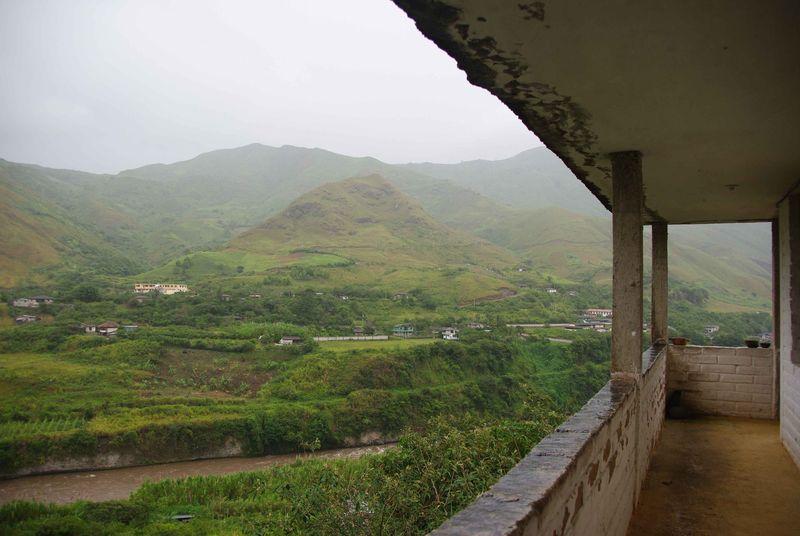 Vue depuis la maison de la fondation, Guallupe