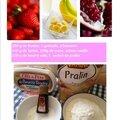 Petite recette : duo de fraises et grenades en crumble