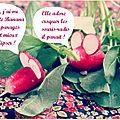 Roman-food de pâques {banana, les radis et le petit garçon qui se faisait eu}