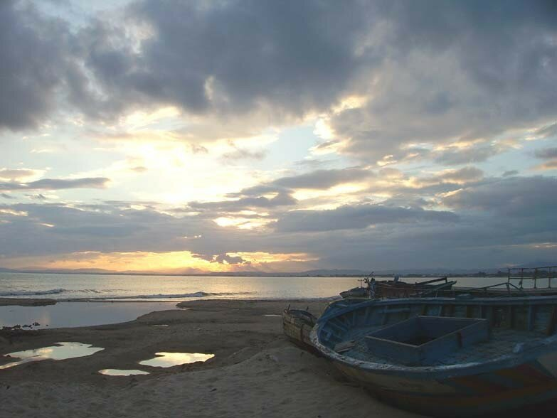 Le coucher de soleil du 15 octobre 2006 (Golfe d'Hammamet)