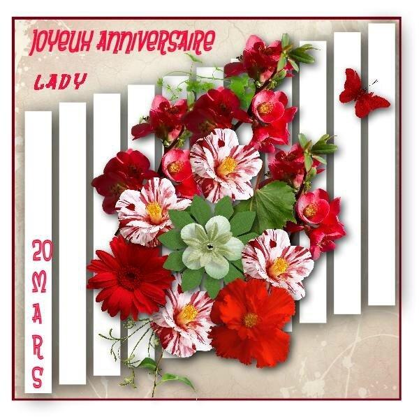 * Anniversaire de Lady