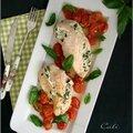 Poulet farci ricotta-basilic & tomates cerises
