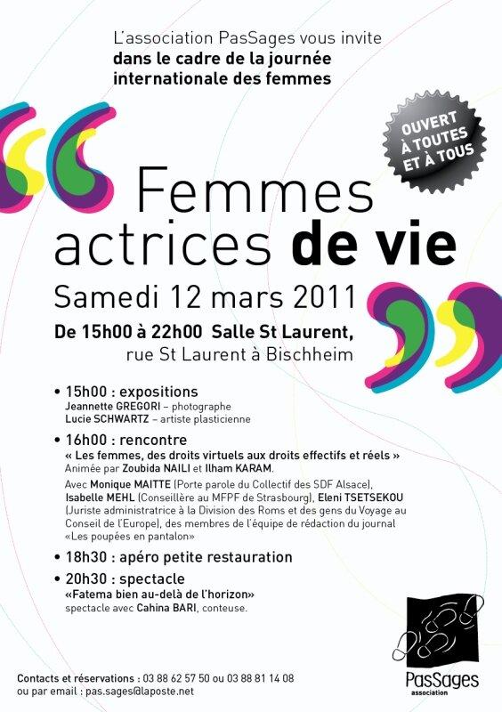 FLYER FETE DES FEMMES 2011