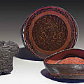 A rare painted lacquer circular box and cover, late eastern zhou dynasty, 4th-3rd century bc