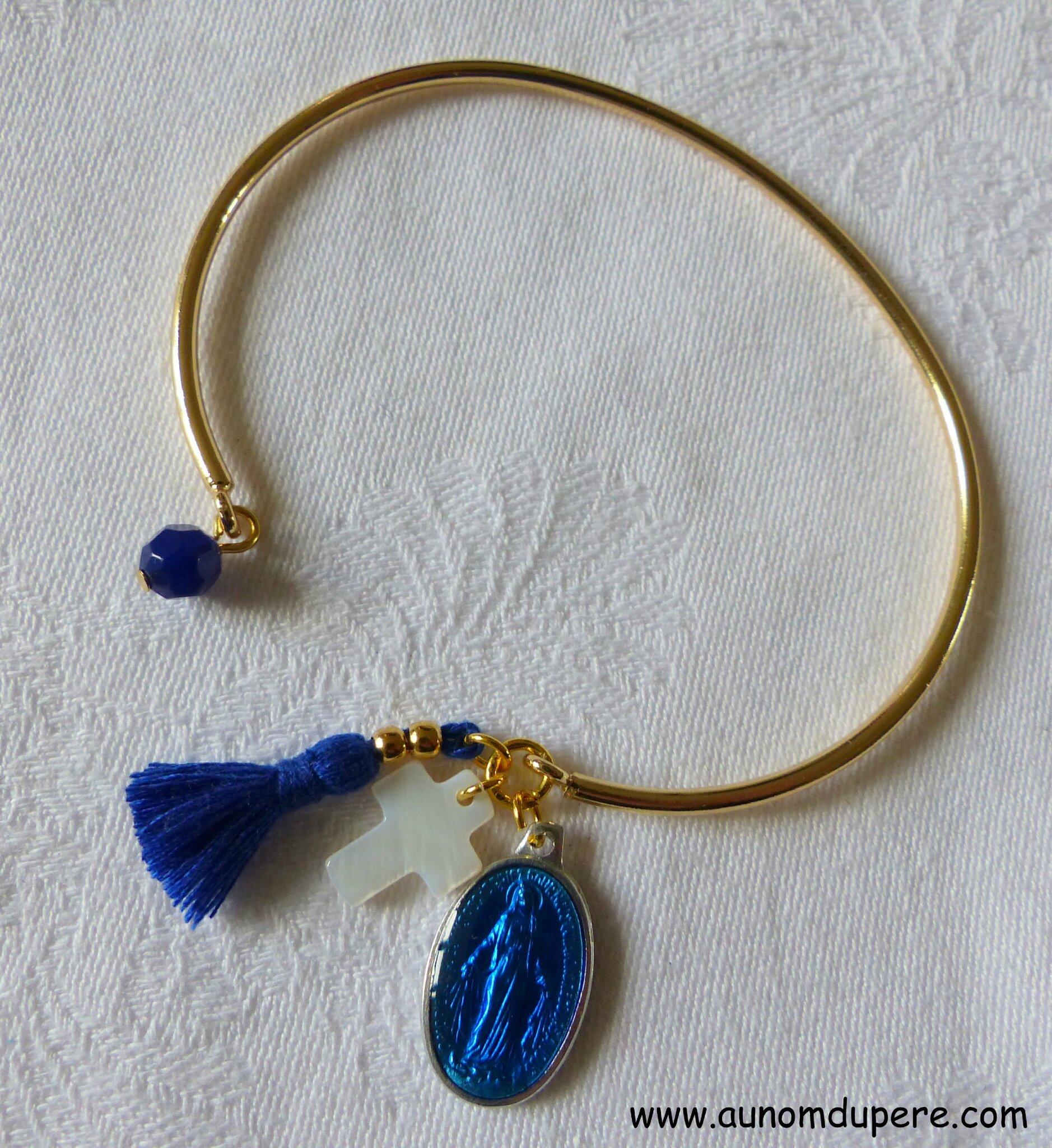 Bracelet de Nazareth (bleu nuit et doré) - 16 €