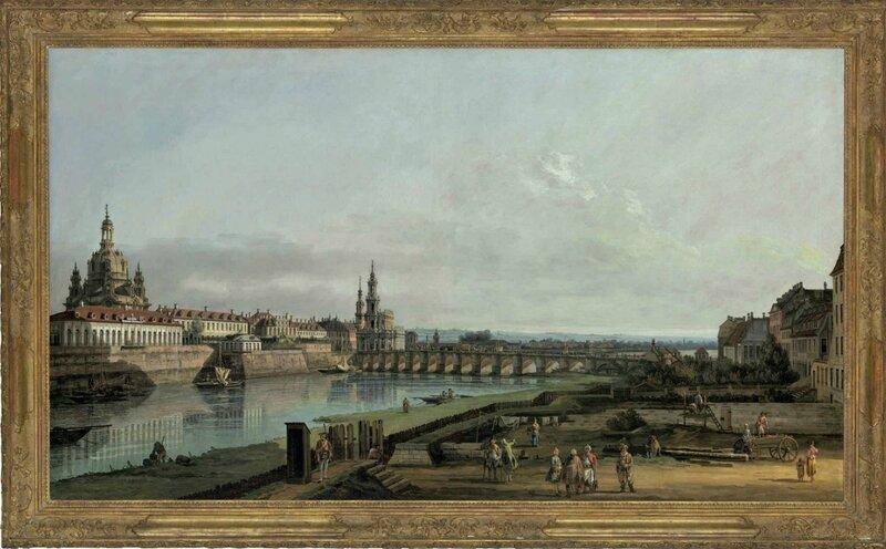 Bernardo Bellotto (Venice 1721-1780 Warsaw), Dresden from the Right Bank of the Elbe above the Augustus Bridge