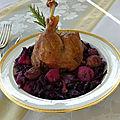 Confit de canard au chou rouge à l'alsacienne