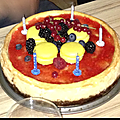 Cheesecake au citron et fruits rouges