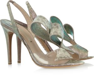 352344 Nicholas Kirkwood - Karung and PVC sandals THE OUTNET