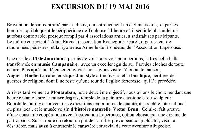 EXCURSION 2016