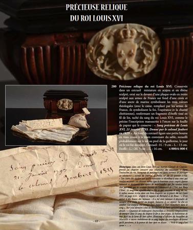 Relique de Louis XVI