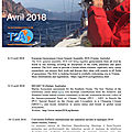 Agenda de la mer : avril 2018 - agenda of the sea : april 2018