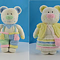 Les aventures de la famille boo, bess (enfants) - knitting by post