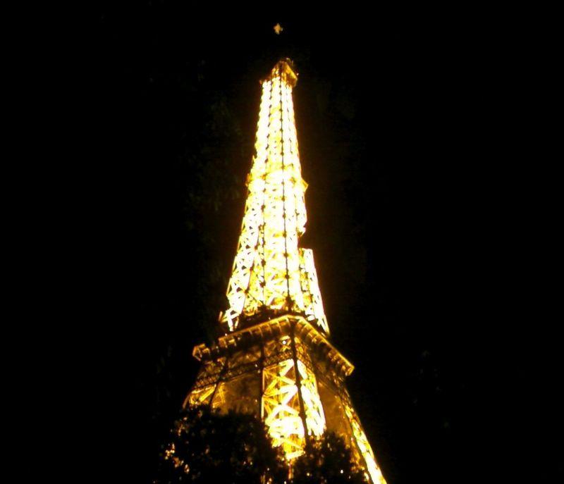 Tour Eiffel lumineuse