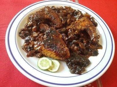 Ailerons de poulet aux aubergines et aux champignons à l'asiatique 2