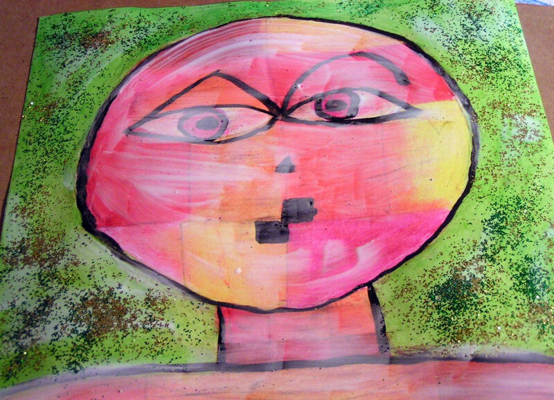 5-Chaud Froid-Portraits inspiration Paul Klee (15)