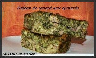 Gâteau de canard aux épinards nv