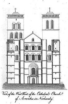 Façade_occidentale_cathédrale_d'Avranches
